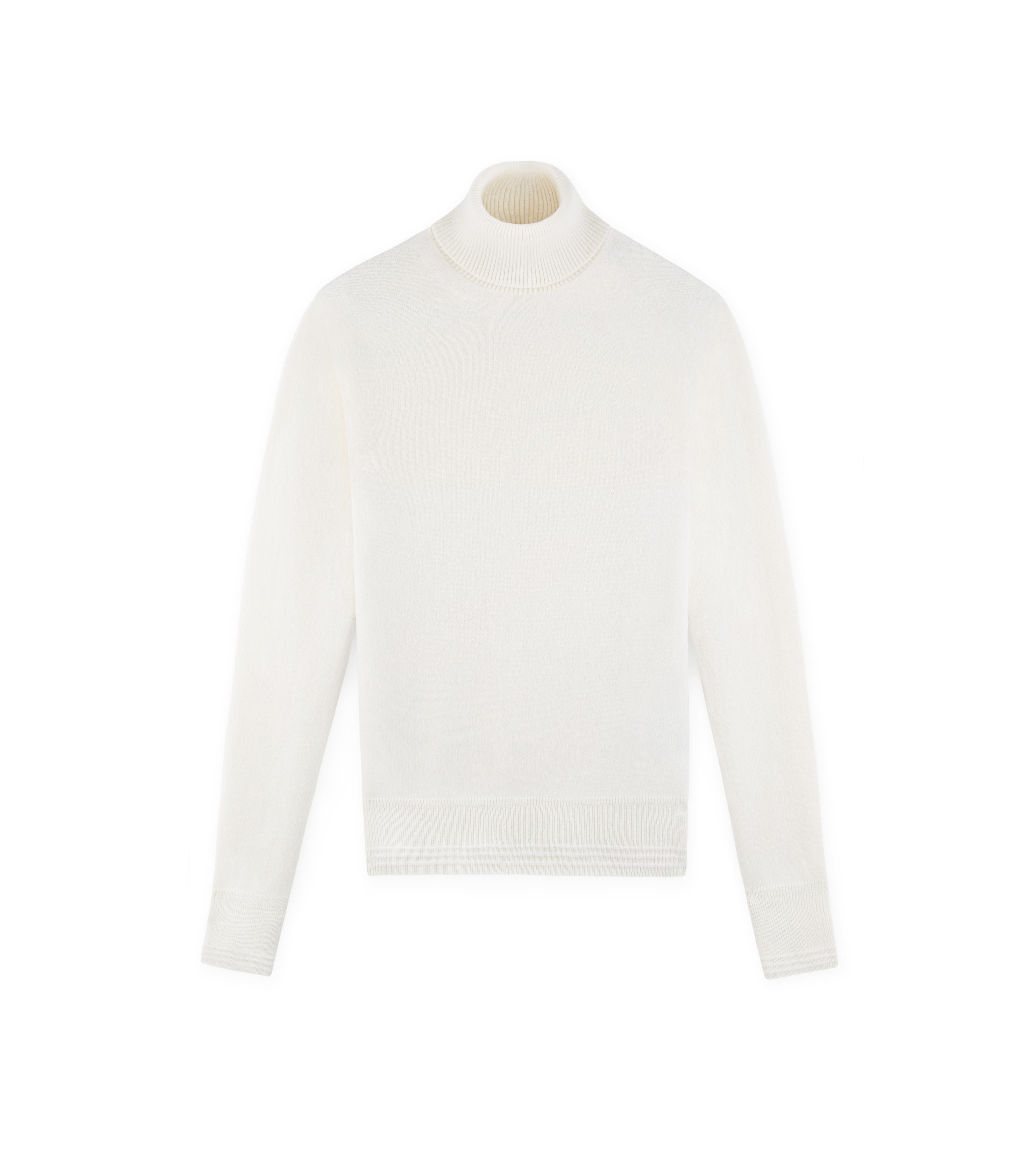 CLASSIC CASHMERE IVORY TURTLENECK A thumbnail