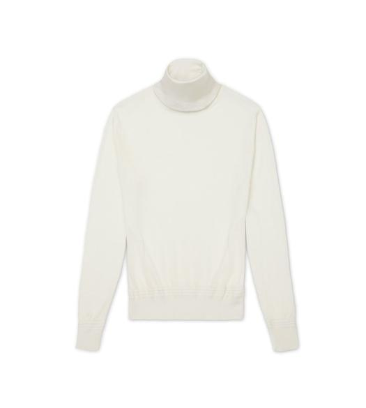CASHMERE SILK TURTLENECK