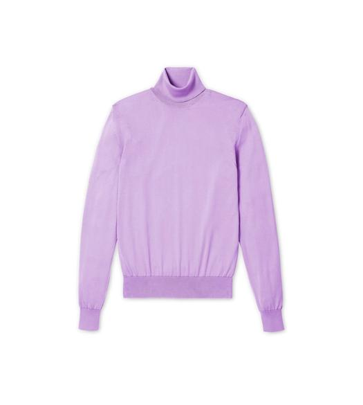 POLYESTER SILK VANISE ROLL NECK KNIT
