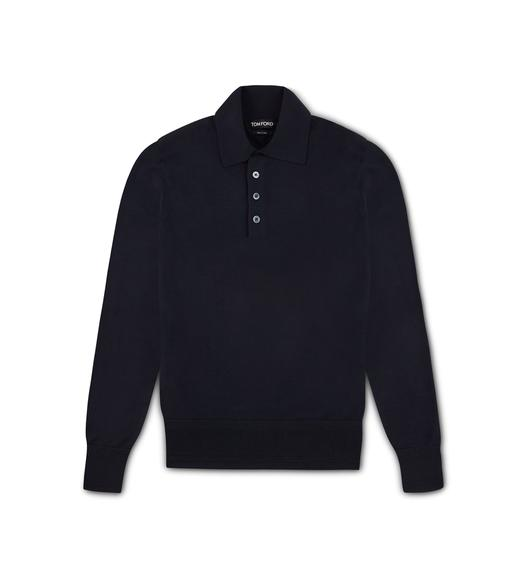 SEAMLESS MERINO POLO SHIRT