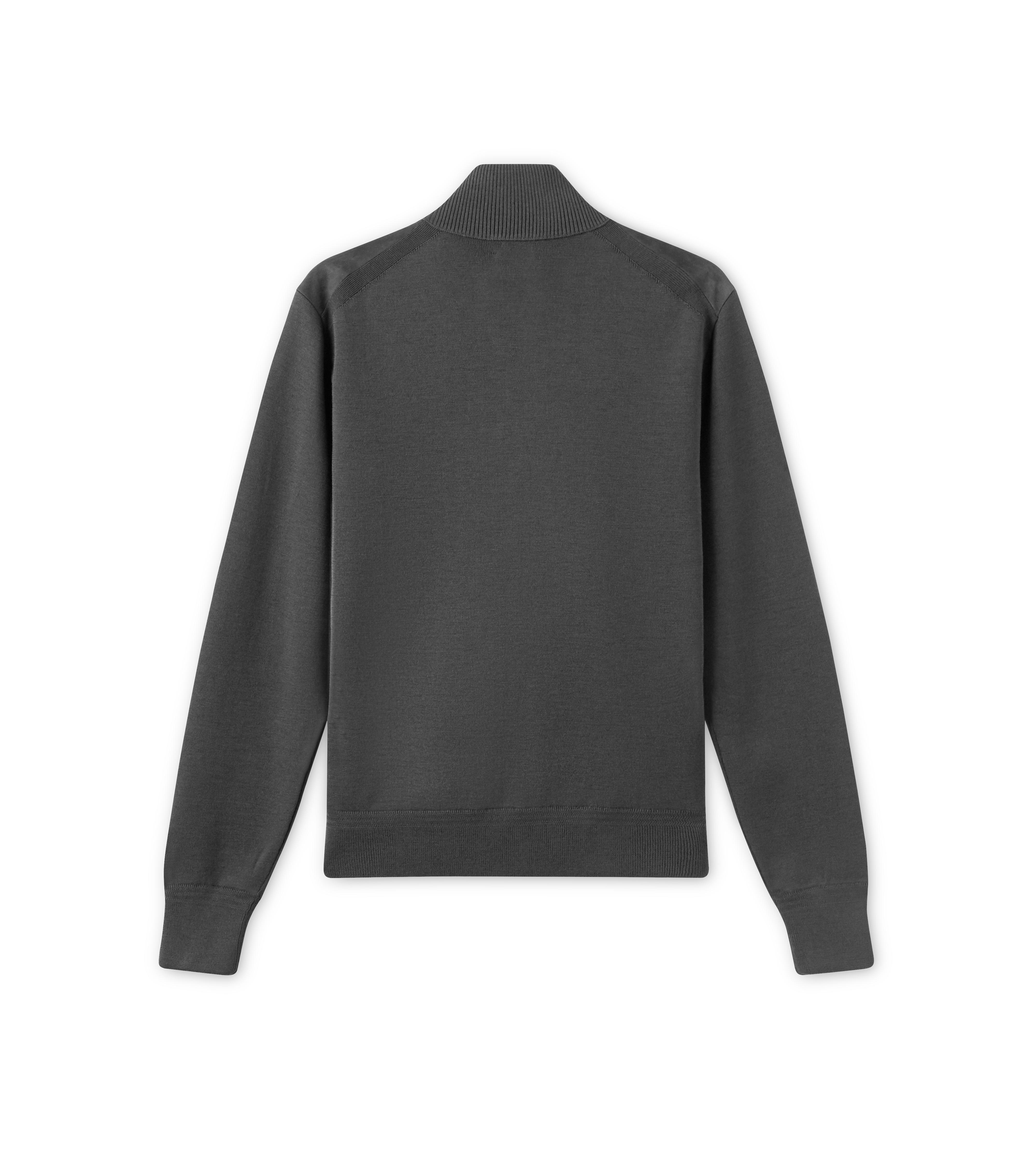 SUEDE FRONT FUNNEL COLLAR FULL ZIP THROUGH B thumbnail