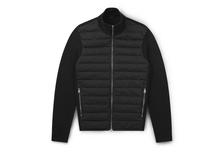 MERINO JACKET WITH QUILTED DOWN PANELS A fullsize