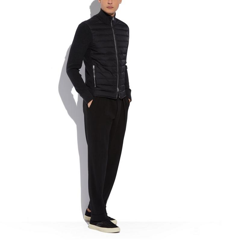 MERINO JACKET WITH QUILTED DOWN PANELS B fullsize