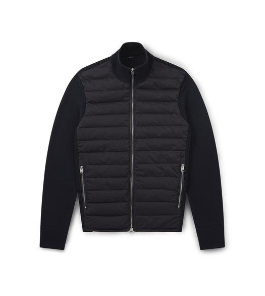 MERINO JACKET WITH QUILTED DOWN PANELS
