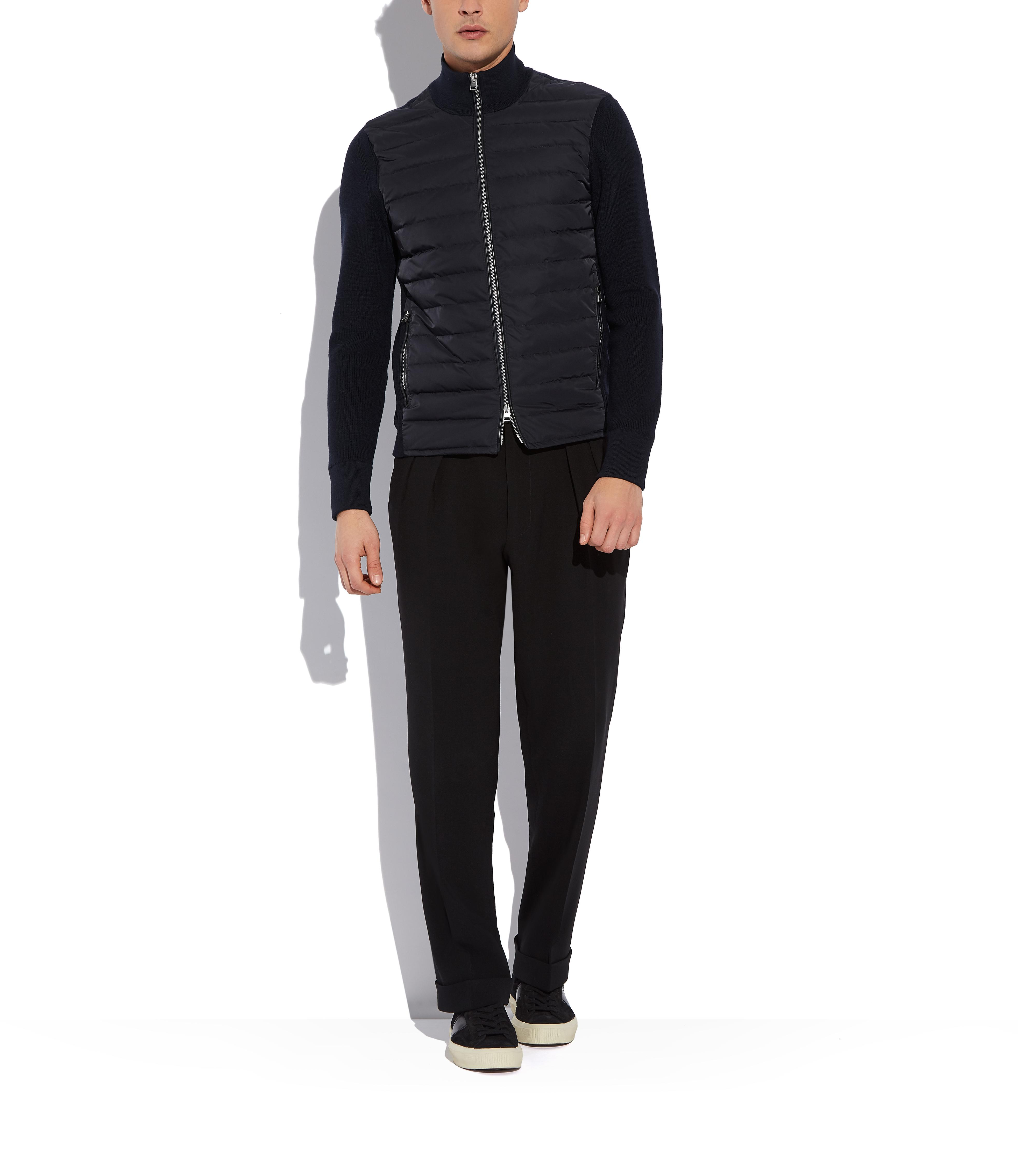 MERINO JACKET WITH QUILTED DOWN PANELS B thumbnail