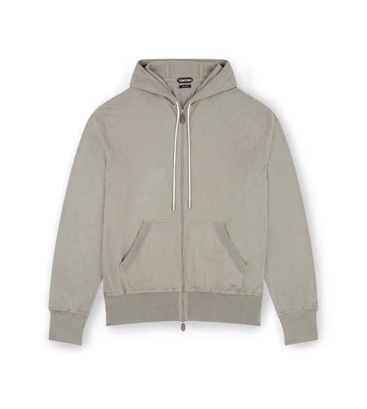 CASHMERE BLEND ZIP-UP HOODIE