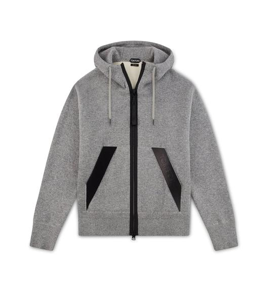 DOUBLE FACE CASHMERE HOODIE