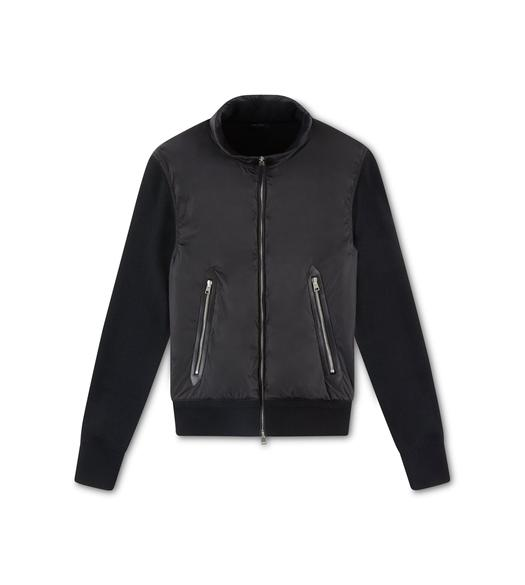 MERINO AND NYLON ZIP JACKET