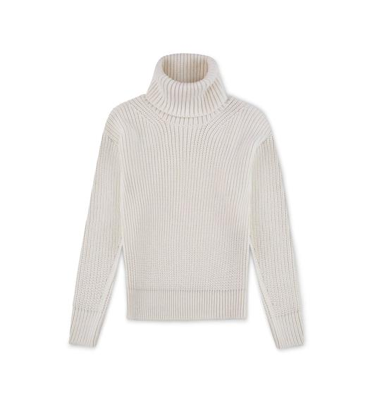 MERINO STITCHED TURTLENECK