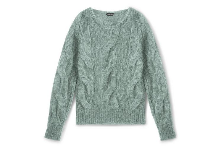 MOHAIR CABLE KNIT PULLOVER A fullsize
