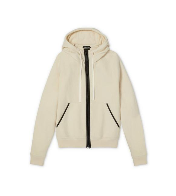 CASHMERE HOOD ZIP THROUGH KNIT A fullsize