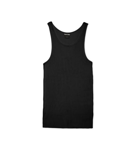 RIBBED VISCOSE TANK TOP
