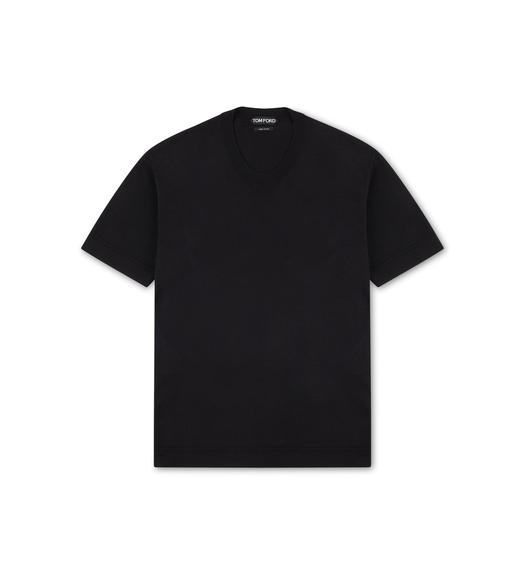 SILK CREWNECK T-SHIRT
