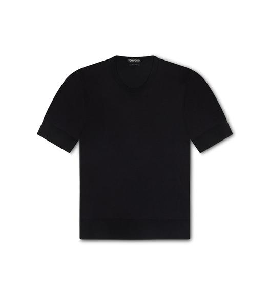 FINE GAUGE SILK CREWNECK T-SHIRT