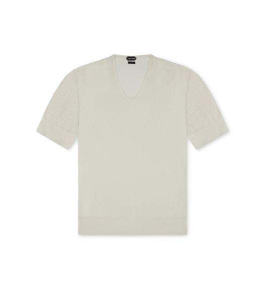 POINTELLE CREWNECK T-SHIRT