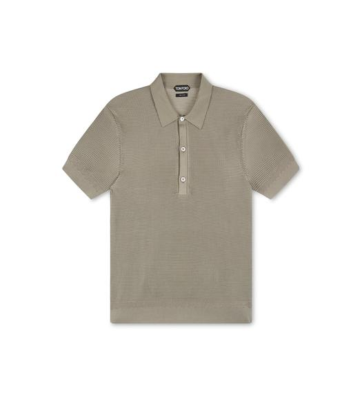 SILK BICOLOR TUCK STITCH POLO