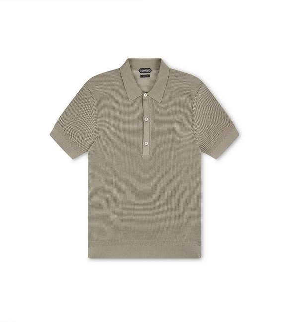 SILK BICOLOR TUCK STITCH POLO A fullsize