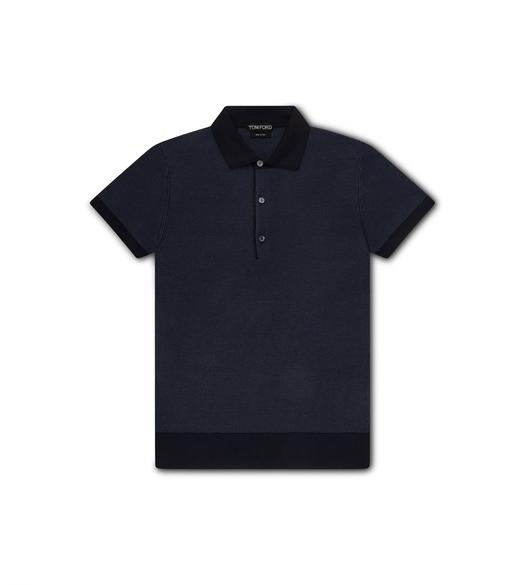 BICOLOUR STITCH POLO