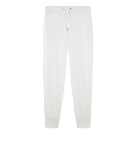 WHITE CASHMERE BLEND SWEATPANTS