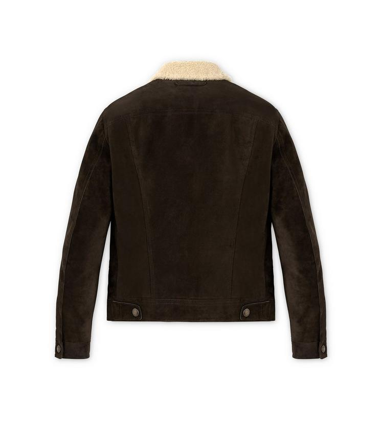 CASHMERE SUEDE AND SHEARLING DOWN FILLED WESTERN JACKET B fullsize