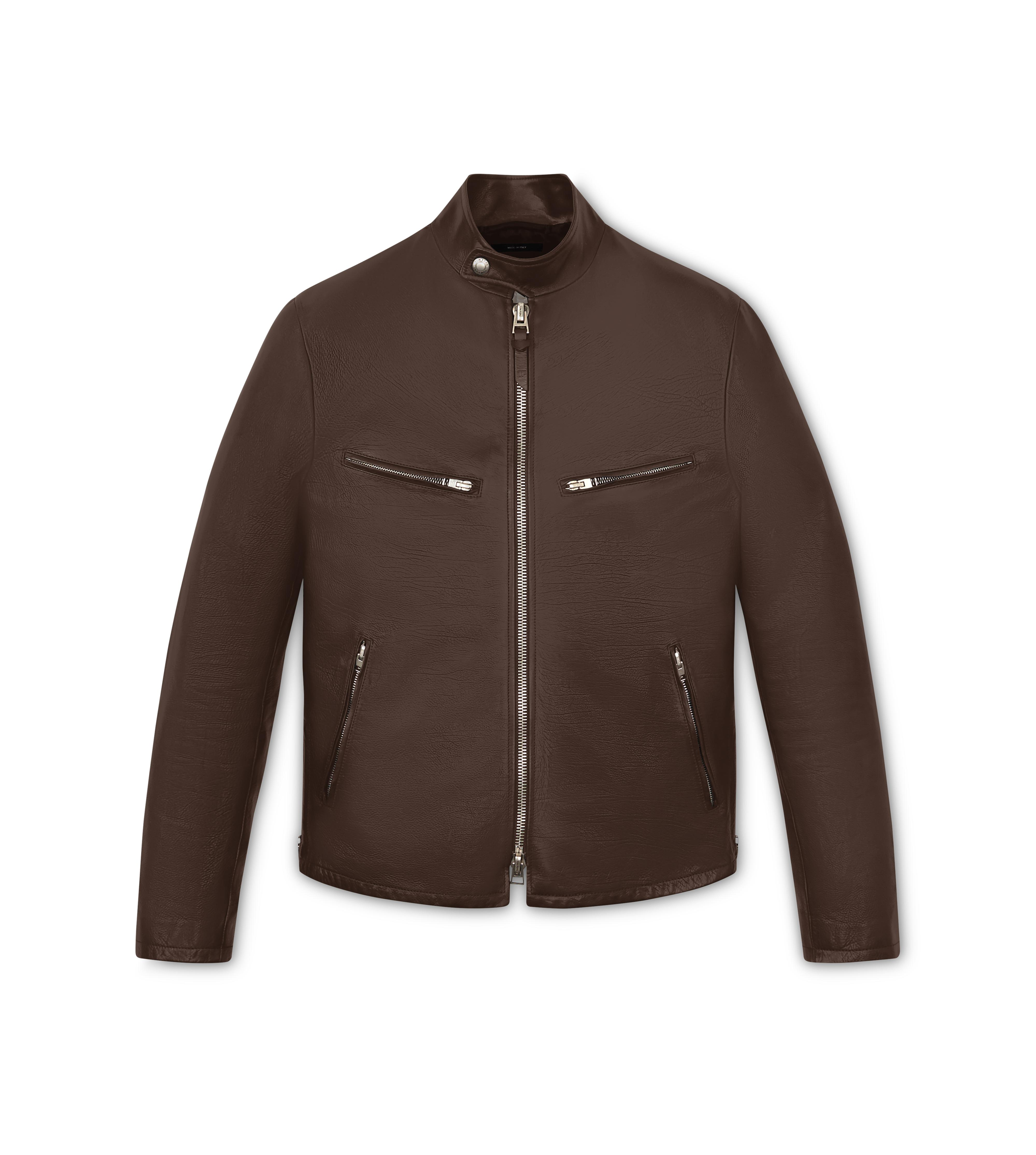 SOFT GRAINED LEATHER CAFE RACER A thumbnail