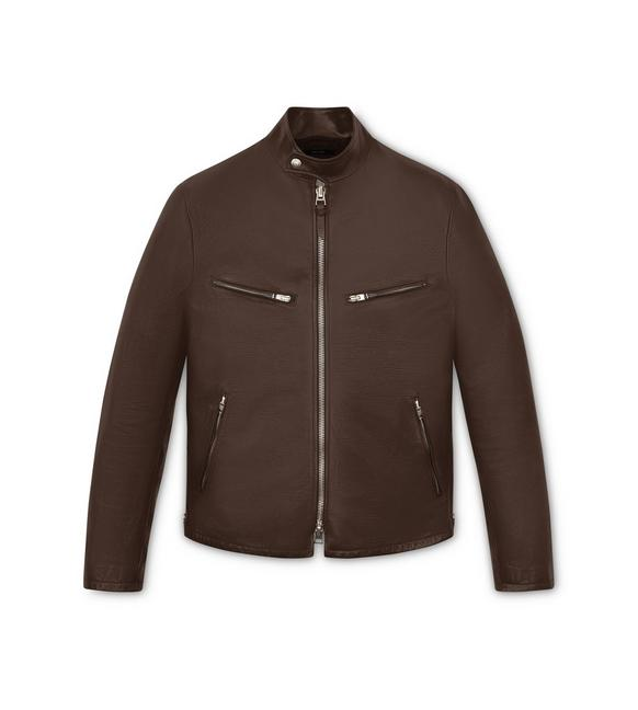 SOFT GRAINED LEATHER CAFE RACER A fullsize