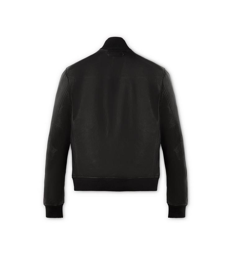LIGHTWEIGHT LEATHER FUNNEL NECK BLOUSON B fullsize