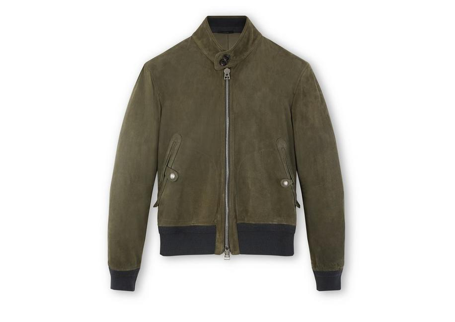 SUEDE HARRINGTON JACKET A fullsize