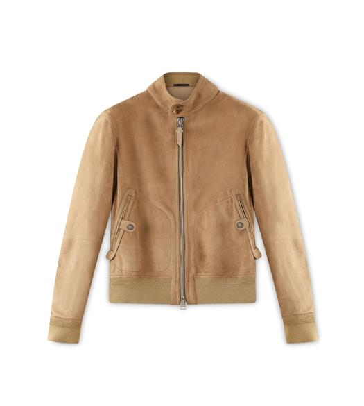 SUEDE HARRINGTON BLOUSON
