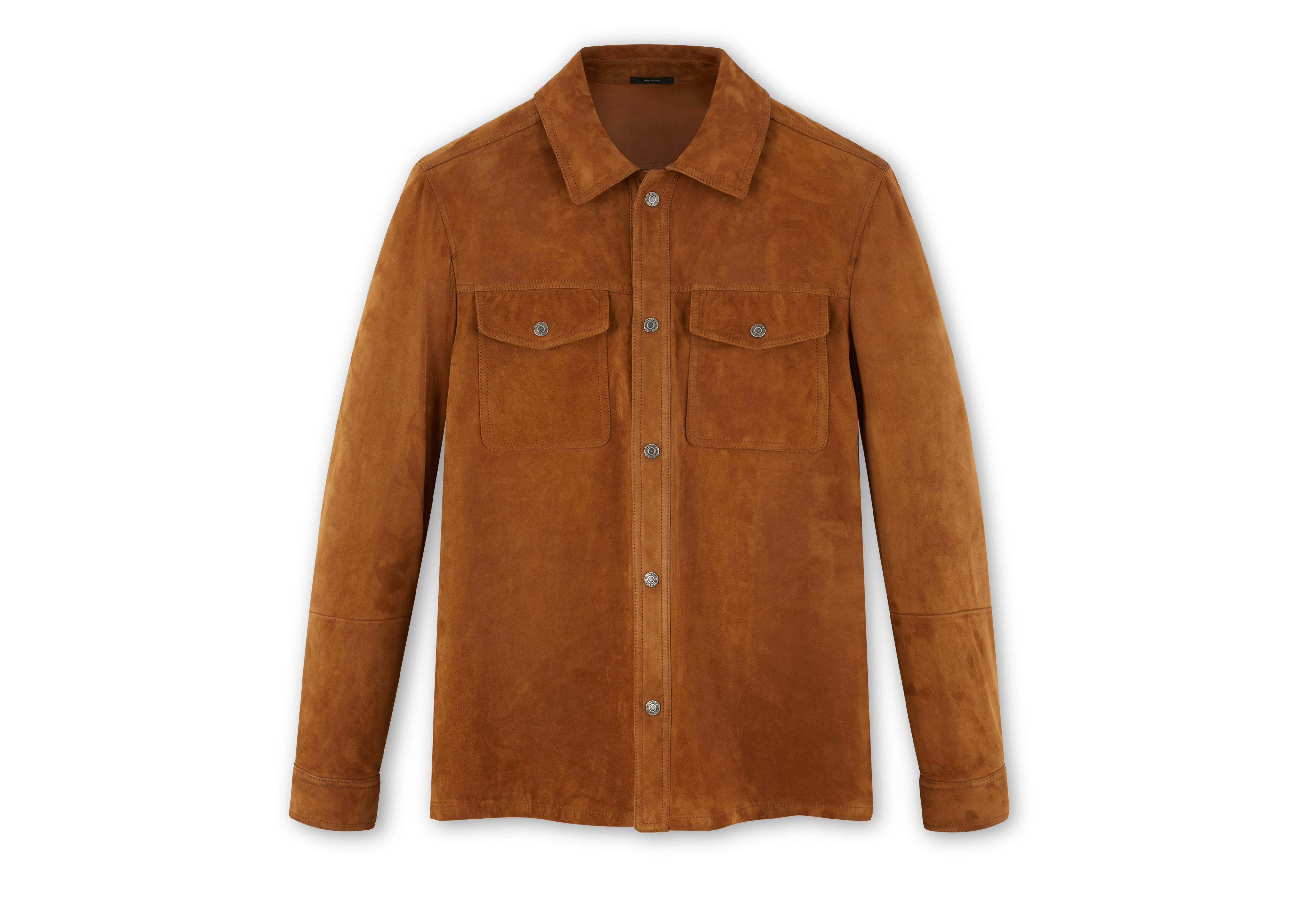 SIGNATURE SUEDE OVERSHIRT A thumbnail