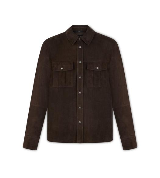 SUEDE MILITARY SHIRT