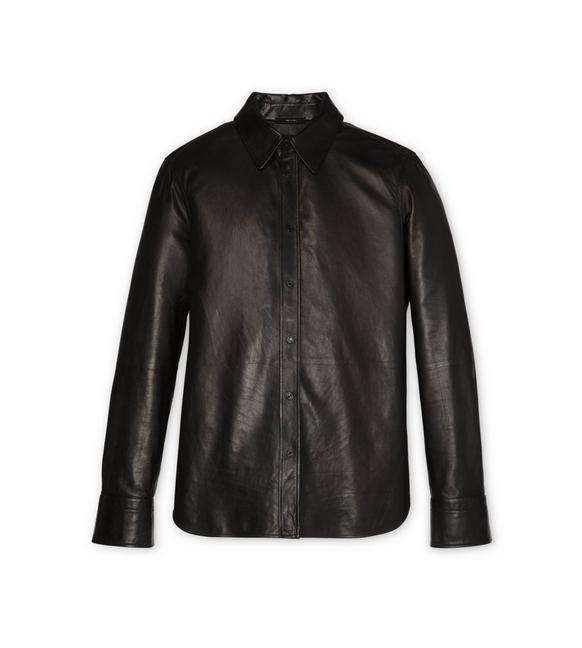 LEATHER TAILORED SHIRT A fullsize