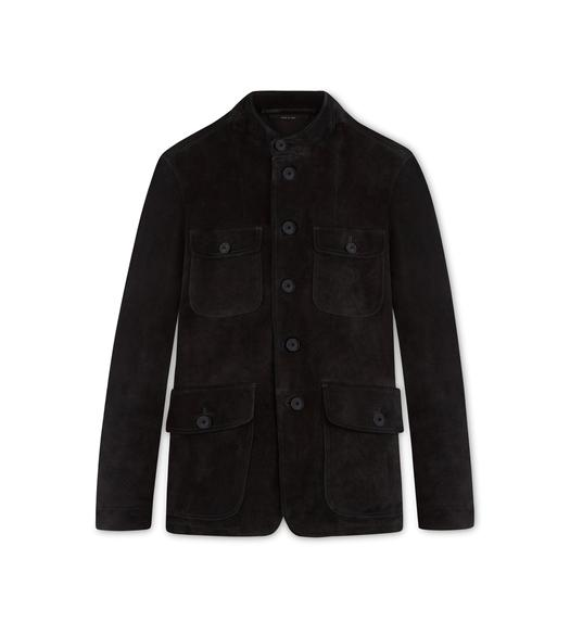 CASHMERE SUEDE MILITARY JACKET