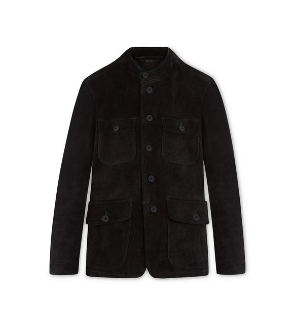 CASHMERE SUEDE MILITARY JACKET A fullsize