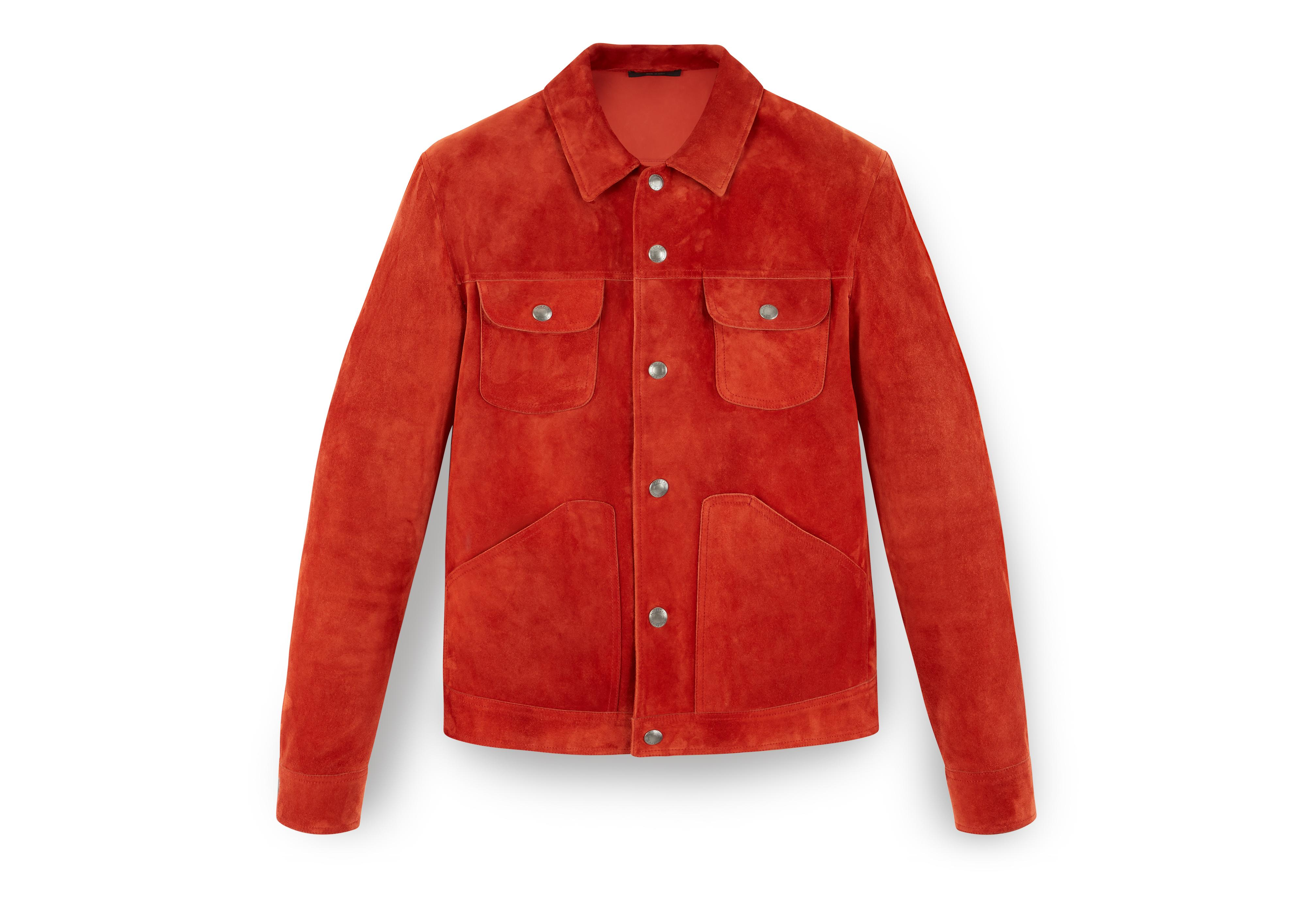CASHMERE SUEDE WESTERN JACKET A thumbnail