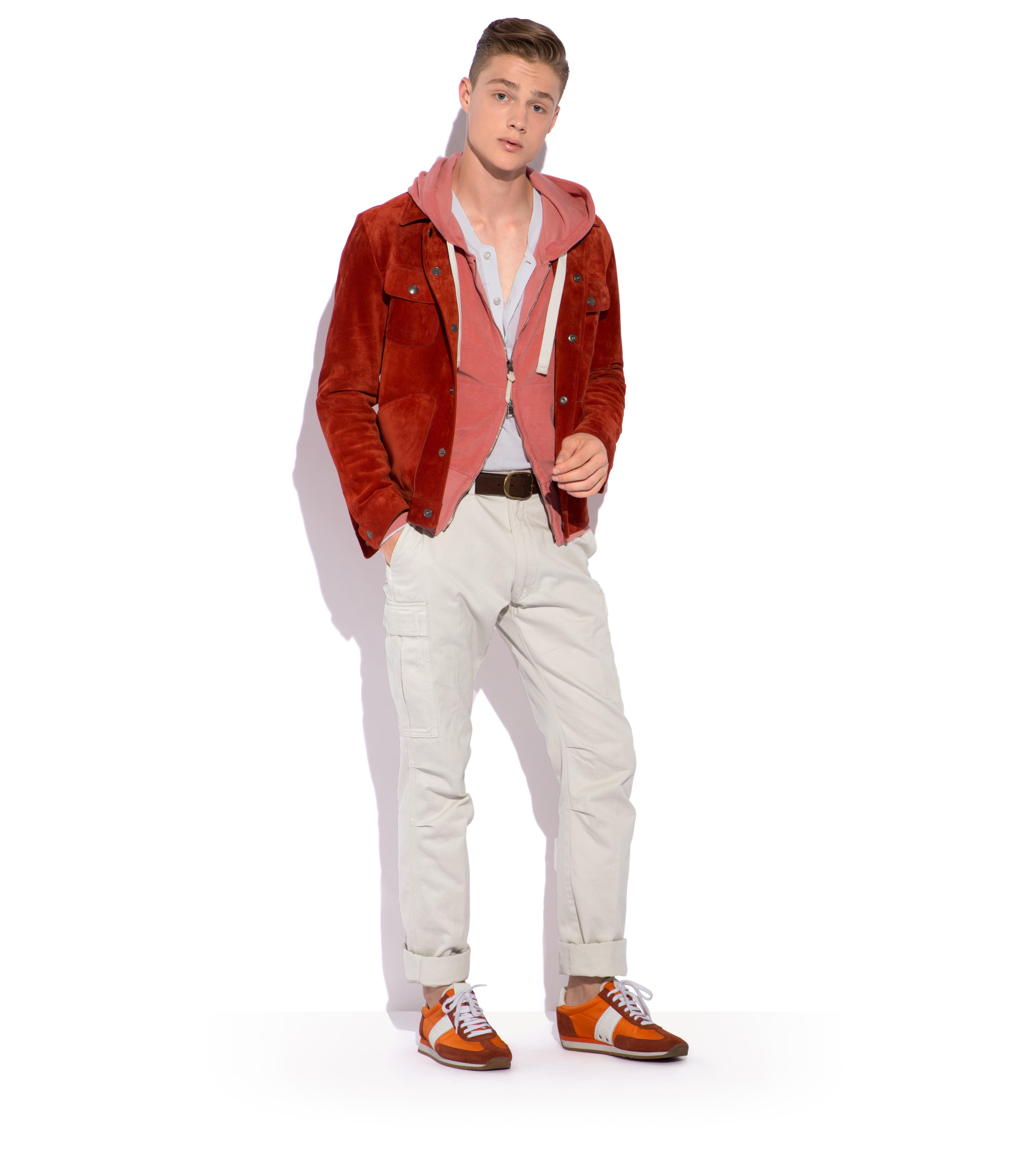 CASHMERE SUEDE WESTERN JACKET B thumbnail
