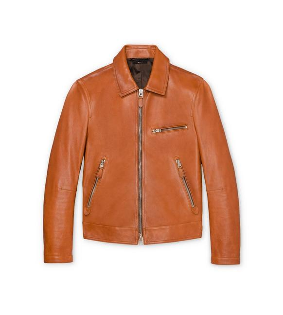 HAND WORKED LEATHER JACKET A fullsize
