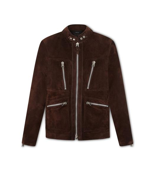 SUEDE BIKER FIELD JACKET