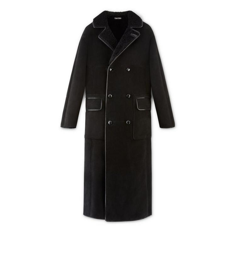 LONG SHEARLING COAT A fullsize