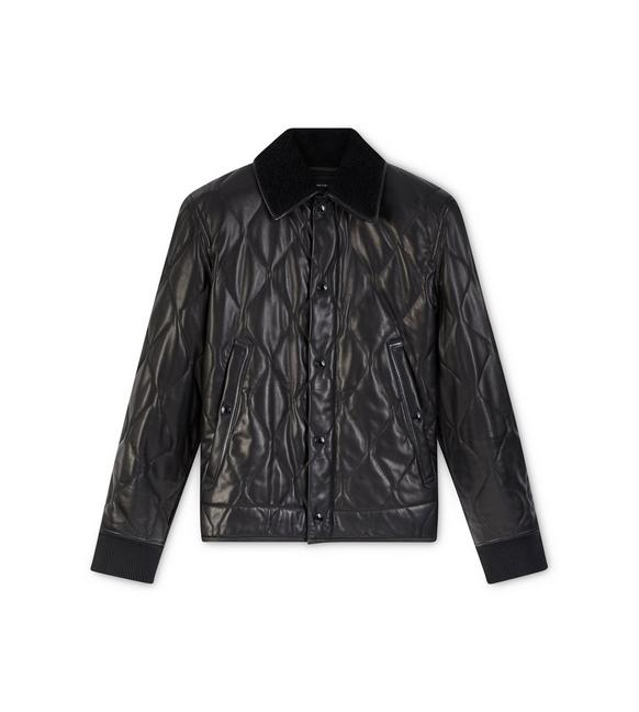QUILTED LEATHER JACKET WITH SHEARLING A fullsize