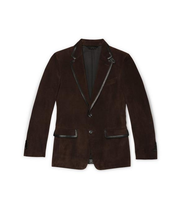 CASHMERE SUEDE SARTORIAL JACKET A fullsize