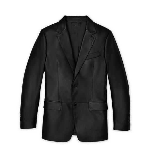 LEATHER SARTORIAL JACKET A fullsize