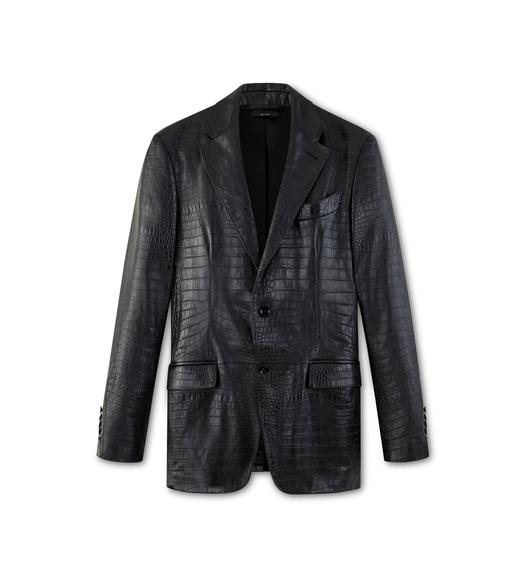 EMBOSSED CROCODILE SARTORIAL JACKET