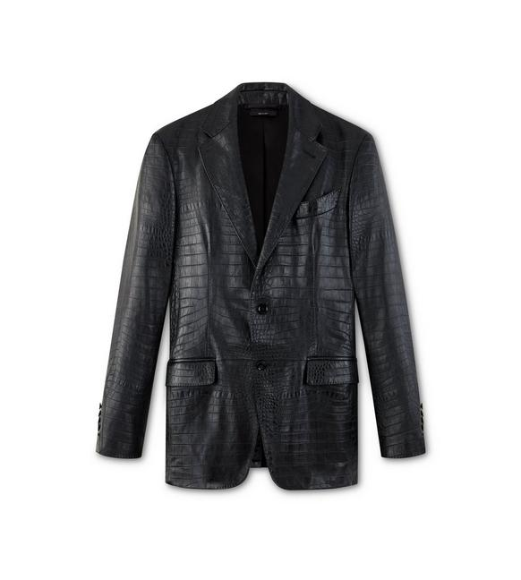 EMBOSSED CROCODILE SARTORIAL JACKET A fullsize