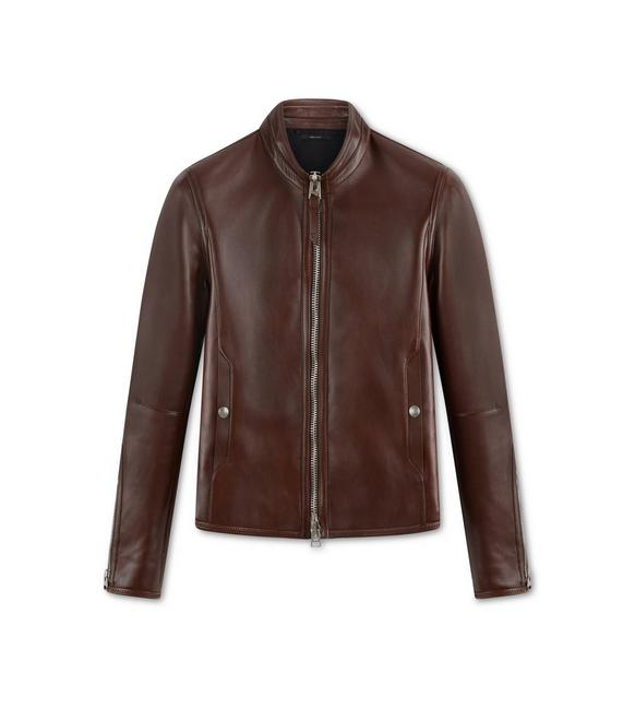 LEATHER RACER JACKET A fullsize