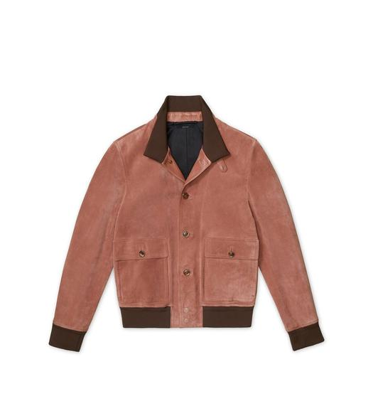 SUEDE KNIT JACKET
