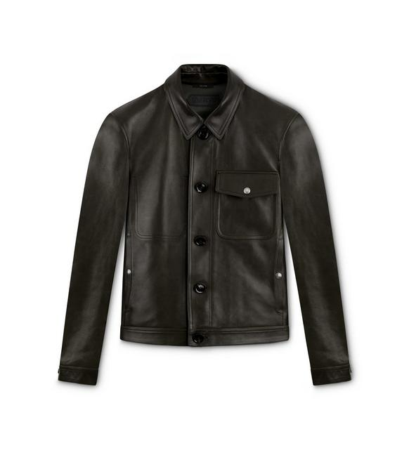 GLOSSY LEATHER OUTERSHIRT A fullsize