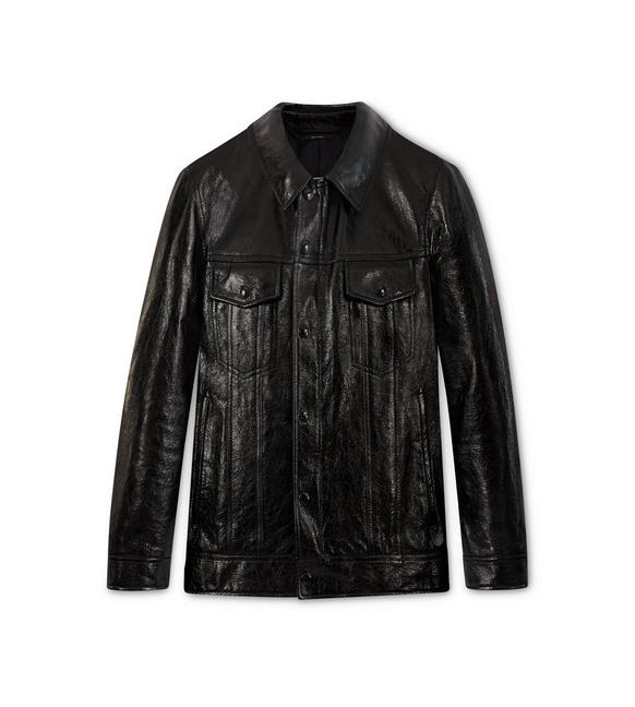 SHINE LEATHER WESTERN JACKET A fullsize