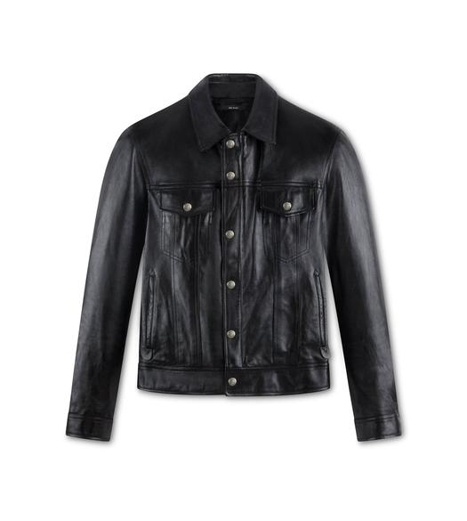 WORKED LEATHER WESTERN JACKET