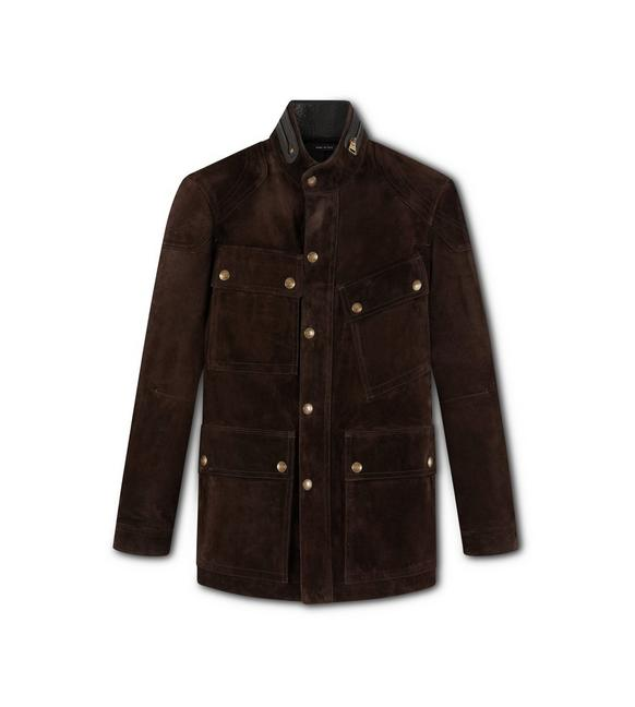 CASHMERE SUEDE MOTORCYCLE JACKET A fullsize